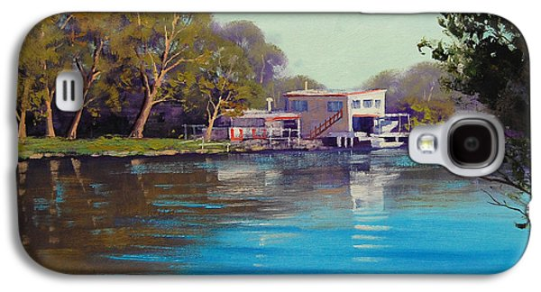 Shed Paintings Galaxy S4 Cases - Budgewoi Creek Galaxy S4 Case by Graham Gercken