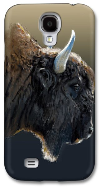 Bison Digital Art Galaxy S4 Cases - Buffalo Galaxy S4 Case by Arie Van der Wijst