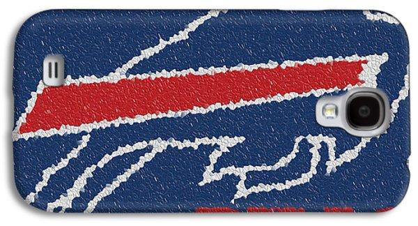 Buffalo Art Digital Art Galaxy S4 Cases - Buffalo Bills Mosaic Galaxy S4 Case by Jack Zulli