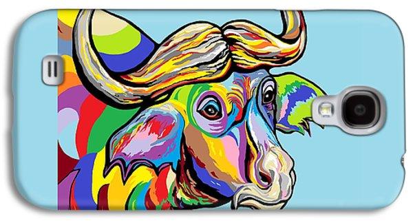 Bison Digital Art Galaxy S4 Cases - Buffalo Galaxy S4 Case by Eloise Schneider