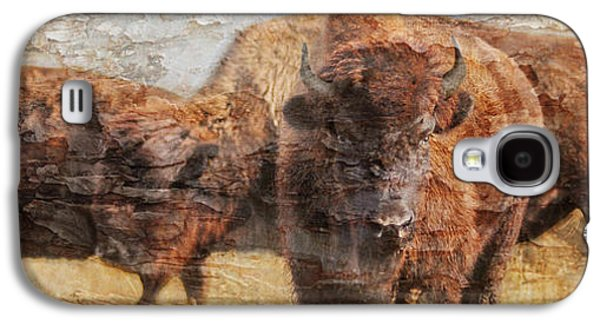 Bison Digital Art Galaxy S4 Cases - Buffalo Gals Galaxy S4 Case by Judy Wood