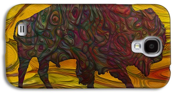 Bison Digital Art Galaxy S4 Cases - Buffalo Galaxy S4 Case by Jack Zulli