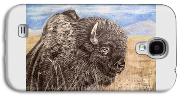 Bison Pastels Galaxy S4 Cases - Buffalo Galaxy S4 Case by Keiko Olds