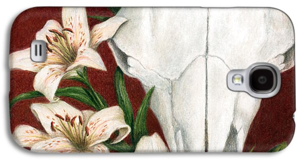 Colored Pencil Paintings Galaxy S4 Cases - Buffalo Lilies Galaxy S4 Case by Pat Erickson