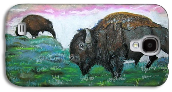 Bison Pastels Galaxy S4 Cases - Buffalo Galaxy S4 Case by Mike Benton