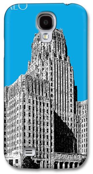 Buffalo Art Digital Art Galaxy S4 Cases - Buffalo New York Skyline 1 - Ice Blue Galaxy S4 Case by DB Artist