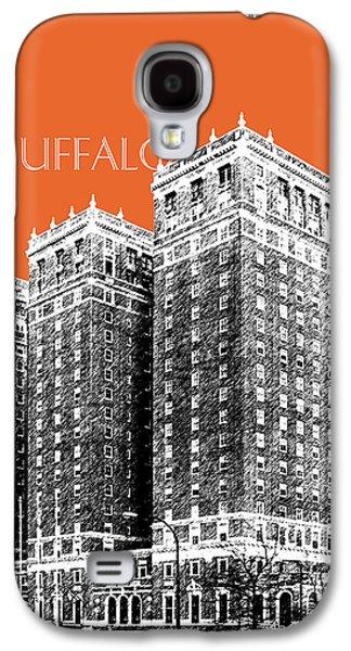 Buffalo Art Digital Art Galaxy S4 Cases - Buffalo New York Skyline 2 - Coral Galaxy S4 Case by DB Artist