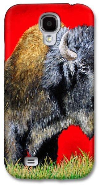 Popular Art Galaxy S4 Cases - Buffalo Warrior Galaxy S4 Case by Teshia Art