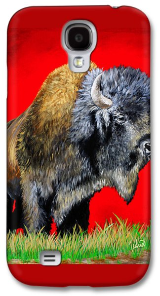 Buffalo Warrior Galaxy S4 Case by Teshia Art