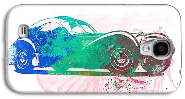 Concept Photographs Galaxy S4 Cases - Bugatti Atlantic Watercolor 1 Galaxy S4 Case by Naxart Studio