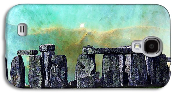 Landmarks Photographs Galaxy S4 Cases - Building A Mystery 2 - Stonehenge Art By Sharon Cummings Galaxy S4 Case by Sharon Cummings