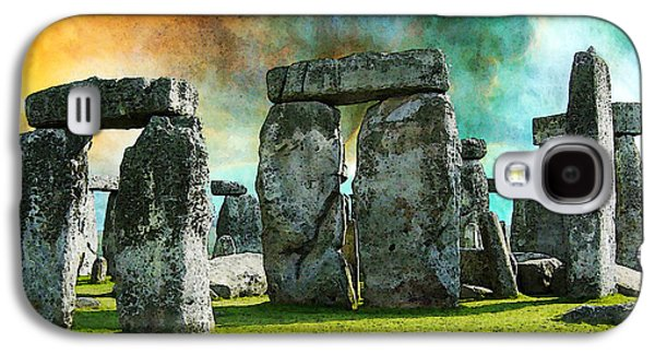 Landmarks Photographs Galaxy S4 Cases - Building A Mystery - Stonehenge Art By Sharon Cummings Galaxy S4 Case by Sharon Cummings