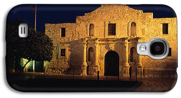 Ancient Galaxy S4 Cases - Building Lit Up At Night, Alamo, San Galaxy S4 Case by Panoramic Images