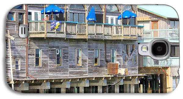 Cedar Key Galaxy S4 Cases - Building on Piles Above Water Galaxy S4 Case by Lorna Maza