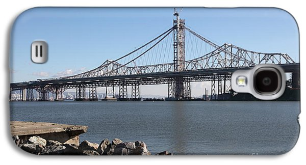 Landmarks Photographs Galaxy S4 Cases - Building The New San Francisco Oakland Bay Bridge - 5D20943 Galaxy S4 Case by Wingsdomain Art and Photography