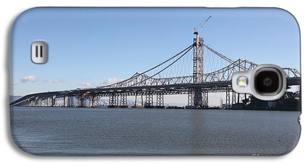 Landmarks Photographs Galaxy S4 Cases - Building The New San Francisco Oakland Bay Bridge - 5D20945 Galaxy S4 Case by Wingsdomain Art and Photography