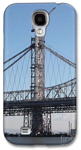 Landmarks Photographs Galaxy S4 Cases - Building The New San Francisco Oakland Bay Bridge - 5D20946 Galaxy S4 Case by Wingsdomain Art and Photography