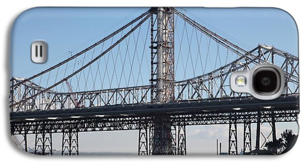 Landmarks Photographs Galaxy S4 Cases - Building The New San Francisco Oakland Bay Bridge - 5D20947 Galaxy S4 Case by Wingsdomain Art and Photography