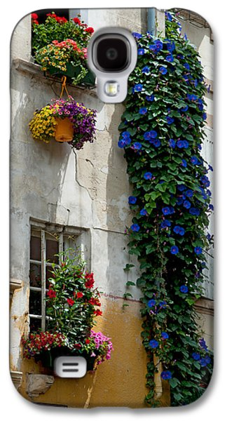 Arles Galaxy S4 Cases - Building With Flower Pots On Each Galaxy S4 Case by Panoramic Images