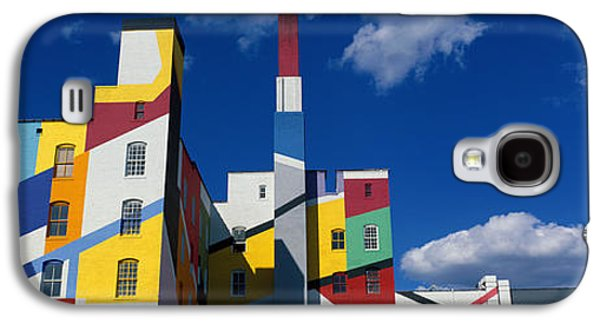 Colorful Abstract Galaxy S4 Cases - Building With Geometric Decorations Galaxy S4 Case by Panoramic Images