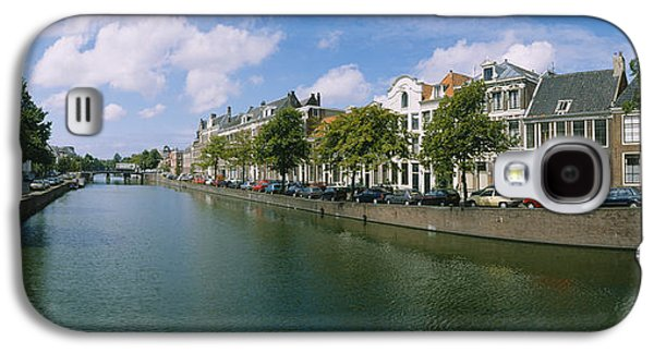 Reflections Of Sky In Water Galaxy S4 Cases - Buildings Along A Canal, Haarlem Galaxy S4 Case by Panoramic Images