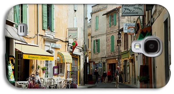 Arles Galaxy S4 Cases - Buildings Along A Street, Rue Porte De Galaxy S4 Case by Panoramic Images