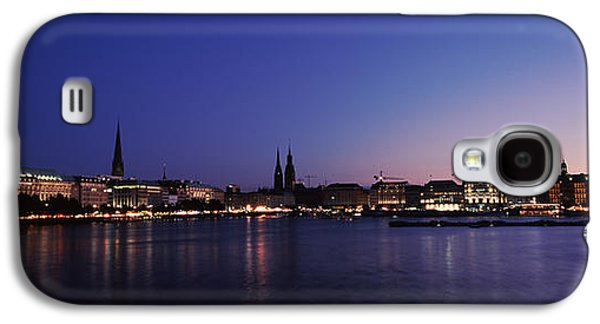 Hamburg Galaxy S4 Cases - Buildings At The Waterfront, Alster Galaxy S4 Case by Panoramic Images