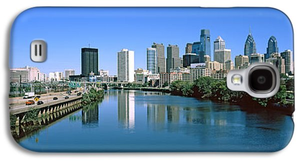 Schuylkill Galaxy S4 Cases - Buildings At The Waterfront Galaxy S4 Case by Panoramic Images