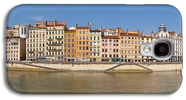 Rhone Alpes Galaxy S4 Cases - Buildings At The Waterfront, Saone Galaxy S4 Case by Panoramic Images