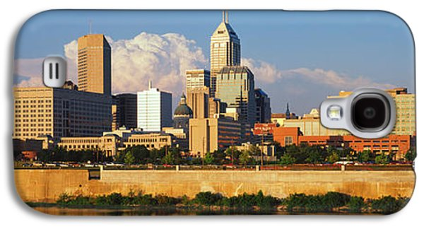 Indiana Scenes Galaxy S4 Cases - Buildings At The Waterfront, White Galaxy S4 Case by Panoramic Images