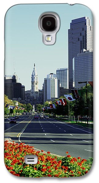 Benjamin Franklin Galaxy S4 Cases - Buildings In A City, Benjamin Franklin Galaxy S4 Case by Panoramic Images