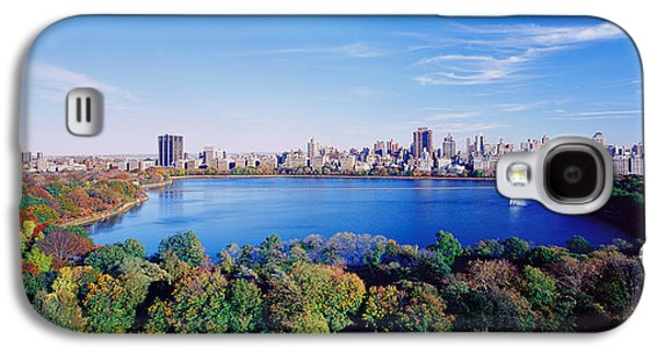 Reservoir Galaxy S4 Cases - Buildings In A City, Central Park Galaxy S4 Case by Panoramic Images