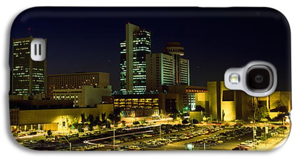 Built Structure Galaxy S4 Cases - Buildings In A City Lit Up At Night Galaxy S4 Case by Panoramic Images