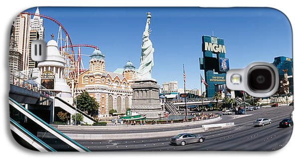 Rollercoaster Photographs Galaxy S4 Cases - Buildings In A City, New York New York Galaxy S4 Case by Panoramic Images