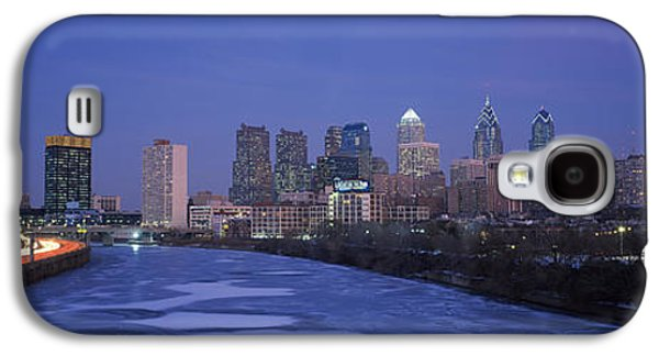 Schuylkill Galaxy S4 Cases - Buildings In A City, Philadelphia Galaxy S4 Case by Panoramic Images