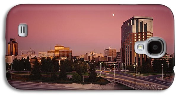 Locations Galaxy S4 Cases - Buildings In A City, Sacramento Galaxy S4 Case by Panoramic Images
