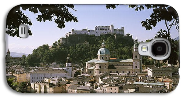Salzburg Galaxy S4 Cases - Buildings In A City, Salzburg, Austria Galaxy S4 Case by Panoramic Images
