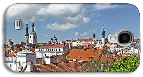 Tallinn Galaxy S4 Cases - Buildings In A City, St Olafs Church Galaxy S4 Case by Panoramic Images