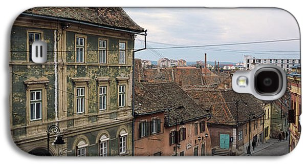 Town Square Galaxy S4 Cases - Buildings In A City, Town Center, Big Galaxy S4 Case by Panoramic Images