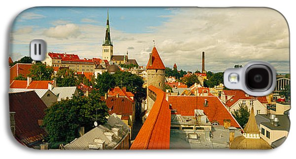 Tallinn Galaxy S4 Cases - Buildings In A Town, Tallinn, Estonia Galaxy S4 Case by Panoramic Images