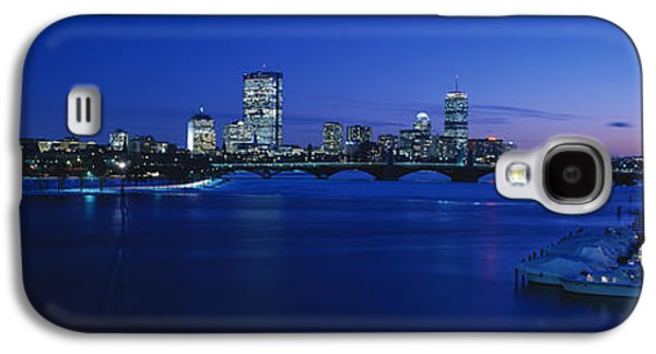 Charles River Galaxy S4 Cases - Buildings Lit Up At Dusk, Charles Galaxy S4 Case by Panoramic Images