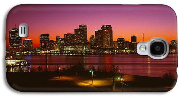 Telephone Poles Galaxy S4 Cases - Buildings Lit Up At Night, New Orleans Galaxy S4 Case by Panoramic Images
