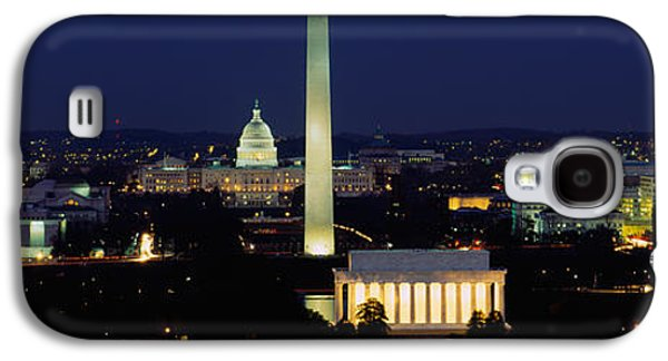 Buildings Lit Up At Night, Washington Galaxy S4 Case by Panoramic Images