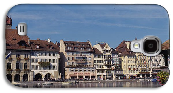 Lucerne Galaxy S4 Cases - Buildings On The Waterfront, Lucerne Galaxy S4 Case by Panoramic Images