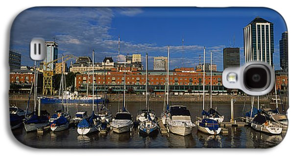 Reflections Of Sky In Water Galaxy S4 Cases - Buildings On The Waterfront, Puerto Galaxy S4 Case by Panoramic Images