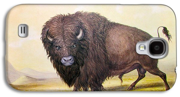 Bison Digital Galaxy S4 Cases - Bull Buffalo Galaxy S4 Case by George Catlin