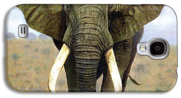 Tusk Galaxy S4 Cases - Bull Elephant Galaxy S4 Case by Chris Heitt