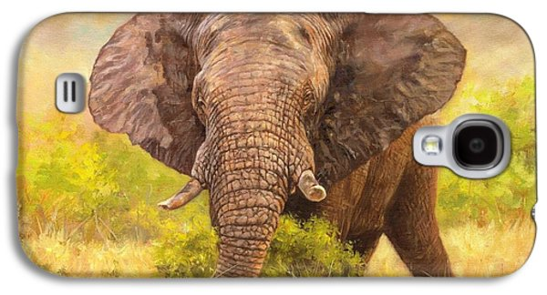 Tusk Galaxy S4 Cases - Bull Elephant Galaxy S4 Case by David Stribbling