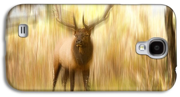Abstract Movement Photographs Galaxy S4 Cases - Bull Elk Forest Dreaming Galaxy S4 Case by James BO  Insogna