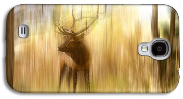 Abstract Movement Galaxy S4 Cases - Bull Elk Forest Gazing Galaxy S4 Case by James BO  Insogna